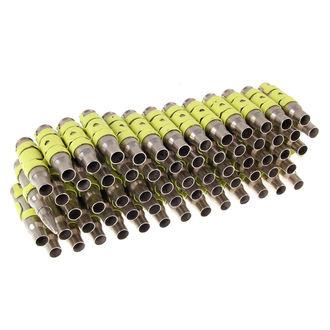 Gürtel Silber & Fluoreszierend - Yellow Metal Bullet, NNM