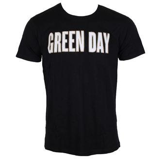 Herren Metal T-Shirt Green Day - Logo & Grenade Applique Slub - ROCK OFF, ROCK OFF, Green Day
