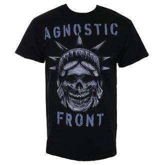 Herren T-Shirt Metal Agnostic Front - STATUE SKULL - RAGEWEAR, RAGEWEAR, Agnostic Front