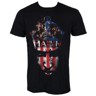 Herren T-Shirt Metal Marilyn Manson - Crown - ROCK OFF, ROCK OFF, Marilyn Manson