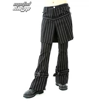 Pants Damen Aderlass - Skirt Pants Pin Stripe (Black-White), ADERLASS