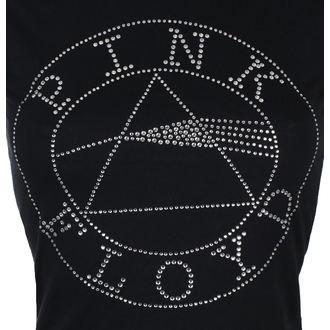 Damen T-Shirt Metal Pink Floyd - Circle Logo Diamante - ROCK OFF, ROCK OFF, Pink Floyd