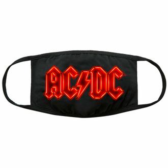 Maske Mundmaske AC/DC - Neon Logo - Schwarz - ROCK OFF, ROCK OFF, AC-DC