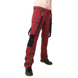 Hose Black Pistol - Punk Pants Tartan Red-Green, BLACK PISTOL