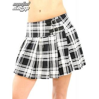 Rock Black Pistol - Buckle Mini Tartan - Schwarz-Weiß, BLACK PISTOL