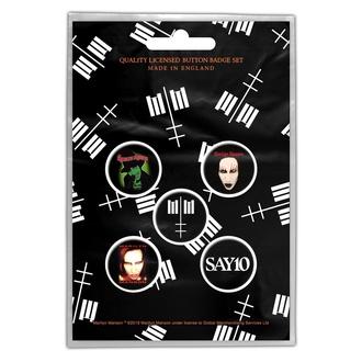 Abzeichen Marilyn Manson - Cross Logo - RAZAMATAZ, RAZAMATAZ, Marilyn Manson
