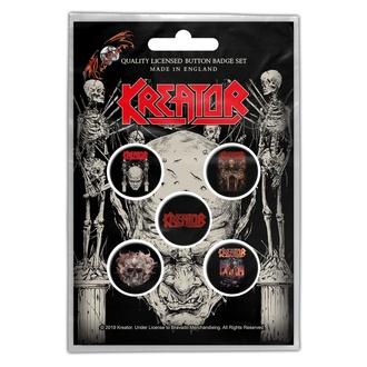 Abzeichen Kreator - Skull & Skeletons - RAZAMATAZ, RAZAMATAZ, Kreator