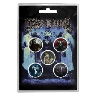 Buttons Cradle Of Filth - Cryptoriana, RAZAMATAZ, Cradle of Filth