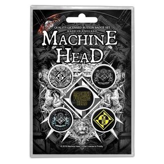 Buttons Machine Head - Crest, RAZAMATAZ, Machine Head