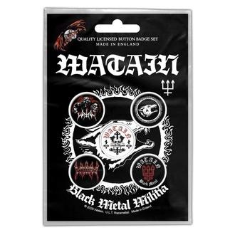Button Watain - Black Metal Militia, RAZAMATAZ, Watain