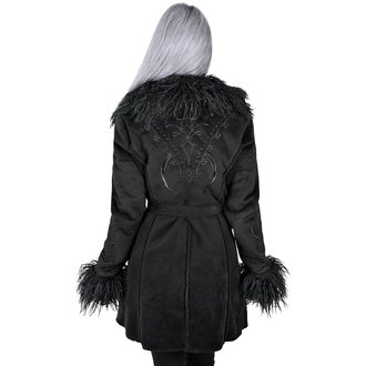 Damen Mantel KILLSTAR - Belladonna Shearling - SCHWARZ, KILLSTAR
