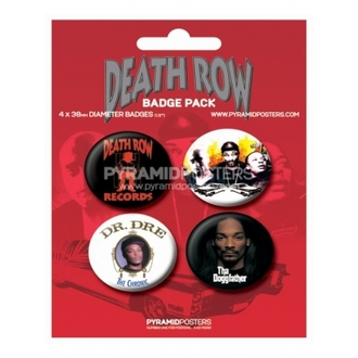 Button Death Row Records - BP80085, PYRAMID POSTERS