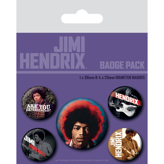 Abzeichen JIMI HENDRIX, NNM, Jimi Hendrix