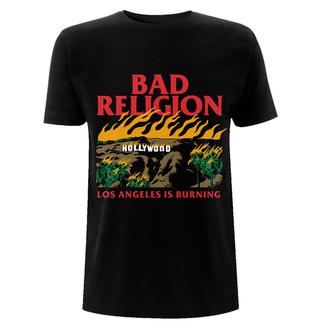 Herren T-Shirt Bad Religion - Burning Black, NNM, Bad Religion