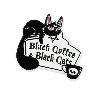 Nadel (Brosche) KILLSTAR - Kaffee und Katzen - Silber, KILLSTAR