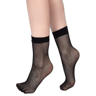 Damen Socken KILLSTAR - COURTNEY FISHNET - SCHWARZ, KILLSTAR