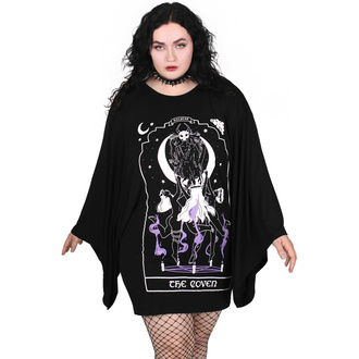 Damen Kleid (Tunika) KILLSTAR - Coven Kimono - Schwarz, KILLSTAR