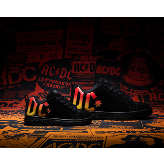 Schuhe DC - AC / DC - HIGHWAY TO HELL - SCHWARZ / SCHWARZ / ORANGE, DC, AC-DC