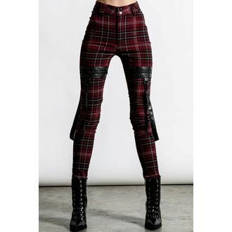 Damenhosen KILLSTAR - Dead Resistance - Skinny Jeans - Blood Tartan, KILLSTAR