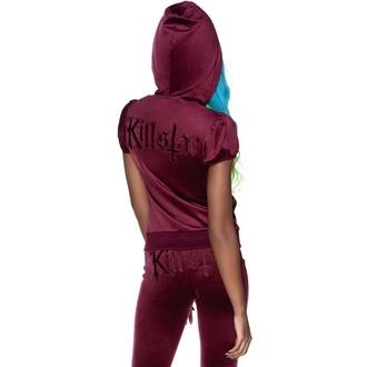 Damen-Sweatshirt KILLSTAR - Dee-Lux Velvet - Burgund, KILLSTAR