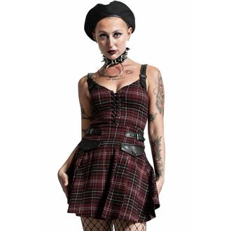 Damenkleid KILLSTAR - Distortion Plissee - BLOOD TARTAN, KILLSTAR
