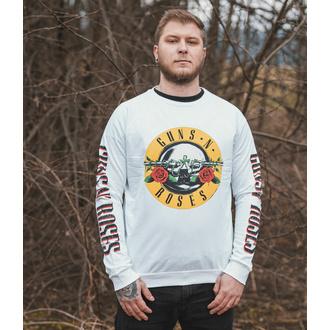 Herren Sweatshirt Guns N' Roses - Classic & Text Logos - WHT - ROCK OFF, ROCK OFF, Guns N' Roses