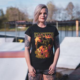 Damen T-Shirt Metal Led Zeppelin - Black Flames - NNM, NNM, Led Zeppelin