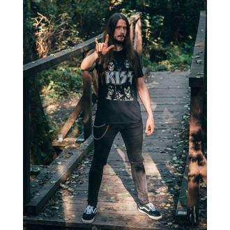 Herren T-Shirt Metal Kiss - Skulls - LOW FREQUENCY, LOW FREQUENCY, Kiss