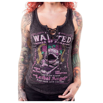 Damen Tanktop LETHAL THREAT - ANGEL MOST WANTED SKULL, LETHAL THREAT