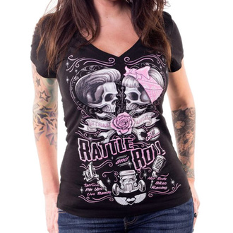 Damen T-Shirt Hardcore - RATTLE AND ROLL - LETHAL THREAT, LETHAL THREAT