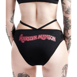 Damen Höschen KILLSTAR - Marilyn Manson - Golden Ticket - Schwarz, KILLSTAR, Marilyn Manson