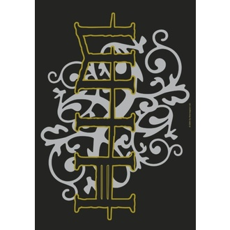 Flagge Him - Gold & Silver Logo, HEART ROCK, Him