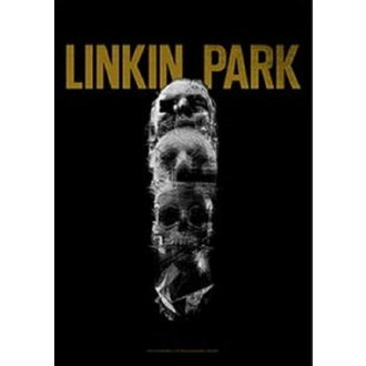 Flagge Linkin Park - Living - Schädel Totem, HEART ROCK, Linkin Park