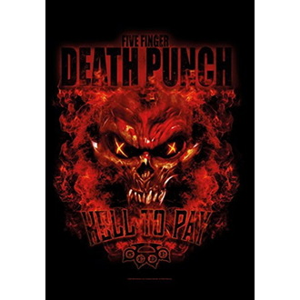 Flagge Five Finger Death Punch - Hell to Pay, HEART ROCK, Five Finger Death Punch