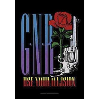 Flagge Guns N' Roses - Gun, HEART ROCK, Guns N' Roses