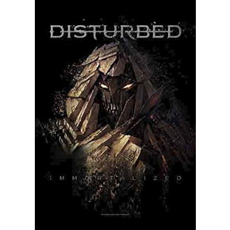 Flagge Disturbed - Shattered, HEART ROCK, Disturbed
