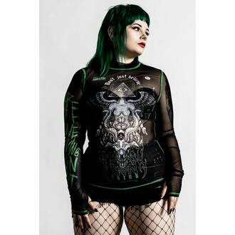Langärmliges Damen T-Shirt KILLSTAR - Illuminated Mesh - Schwarz, KILLSTAR