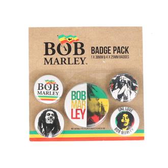 Abzeichen - Bob Marley - PYRAMID POSTERS, PYRAMID POSTERS, Bob Marley