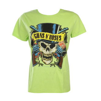 Damen T-Shirt Guns N' Roses - DEATH SKULL - OCEAN COLOR GRÜN - AMPLIFIED, AMPLIFIED, Guns N' Roses