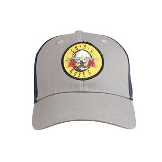 Kappe Cap Guns N' Roses - Kreis Logo GRAU / MARINE - ROCK OFF, ROCK OFF, Guns N' Roses