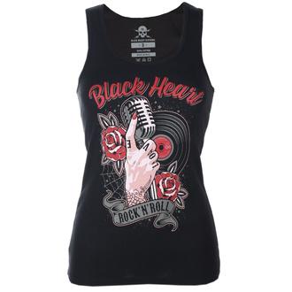 Damen Tanktop BLACK HEART - ROCK N ROLL - SCHWARZ - 011-0050-BLK