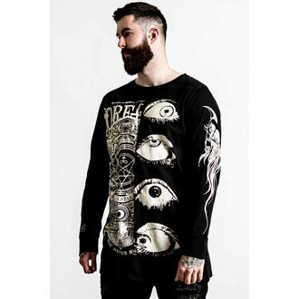 Herren-T-Shirt langarm KILLSTAR - Insomnia Longline Split- Top - schwarz, KILLSTAR
