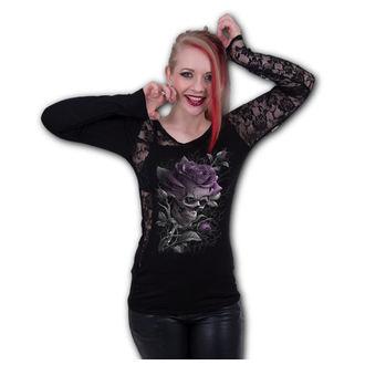 Damen T-Shirt - SKULL ROSE - SPIRAL, SPIRAL