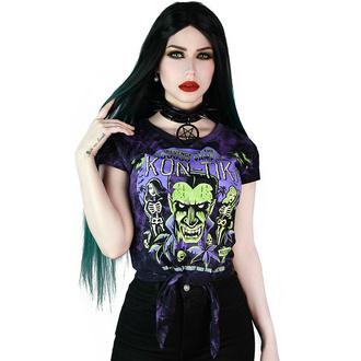 Damen-T-Shirt KILLSTAR - Kon-Tiki batikähnliche Färbung - Violett, KILLSTAR