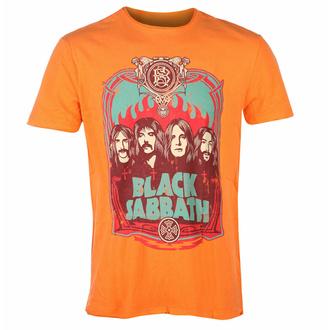 Herren T-Shirt BLACK SABBATH - FLAMES - ORANGE CRUSH - AMPLIFIED, AMPLIFIED, Black Sabbath