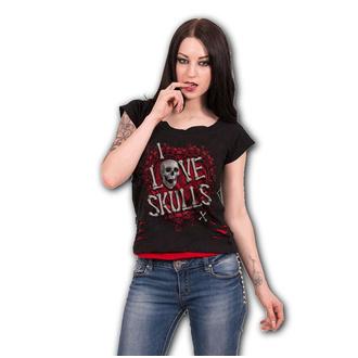 Damen T-Shirt - LOVE SKULLS - SPIRAL, SPIRAL