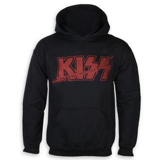 Herren Hoodie Kiss - Slashed Logo - ROCK OFF, ROCK OFF, Kiss