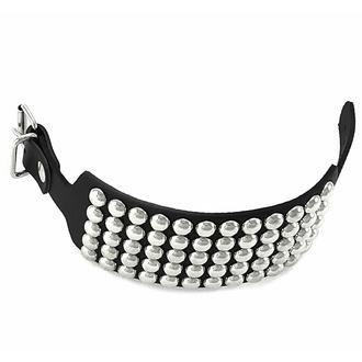 Armbänder SCHWARZE SCHLANGE RUND mit 5 Reihen, Leather & Steel Fashion