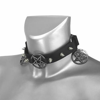 Halsband (Schuhaccessoire) Verdreifaches Pentagram, Leather & Steel Fashion