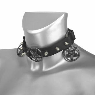 Halsband (Schuhaccessoire) Baphomet Cult, Leather & Steel Fashion